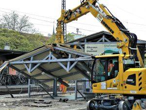 DB-Bahnhof Weilheim i.Ob - beim Umbau 2016