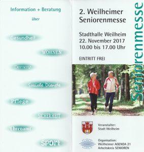 Weilheimer Seniorenmesse 2017 - Flyer
