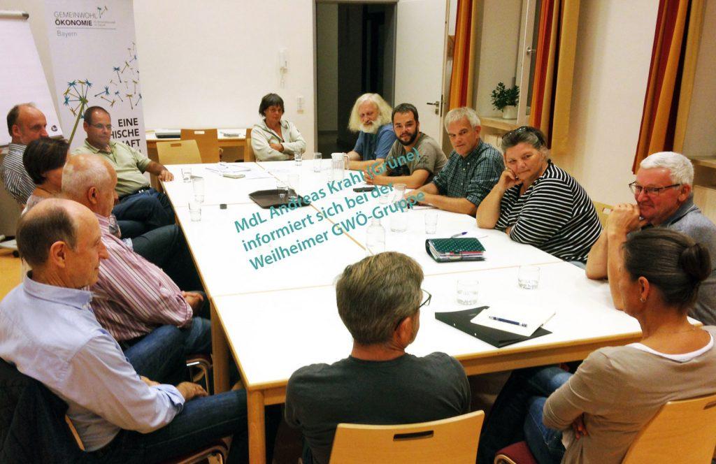 MDL Andreas Krahl (Grüne) bei der GWÖ-Gruppe Weilheim.