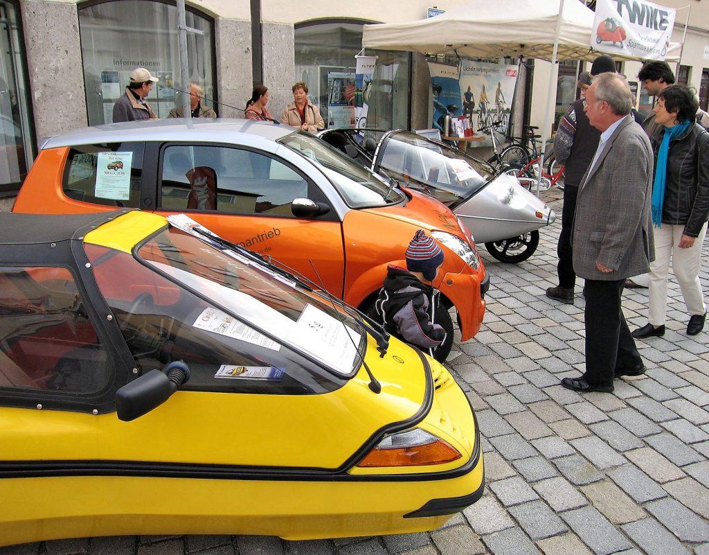 Autoschau Schadstoffarme Fahrzeuge, Weilheim Oktober 2009 - Marienplatz