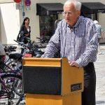 Kurt Doerr vom AGENDA-Arbeitskreis Mobilität+Verkehr beim Weilheimer Radltag