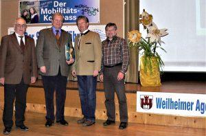 Vortrag Prof.Dr. Weiger (BUND) über Mobilität, Weilheim 2010 - Weiger mit Vertretern des AGENDA-Arbeitskreises Mobilität+Verkehr