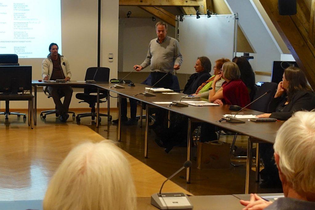 Info-Veranstaltung der Weilheimer AGENDA 21 im Rathaus, 26.3.19 - Sprecher des Arbeitskreises Energie und Klimaschutz, Dr. Stefan Emeis spricht spricht