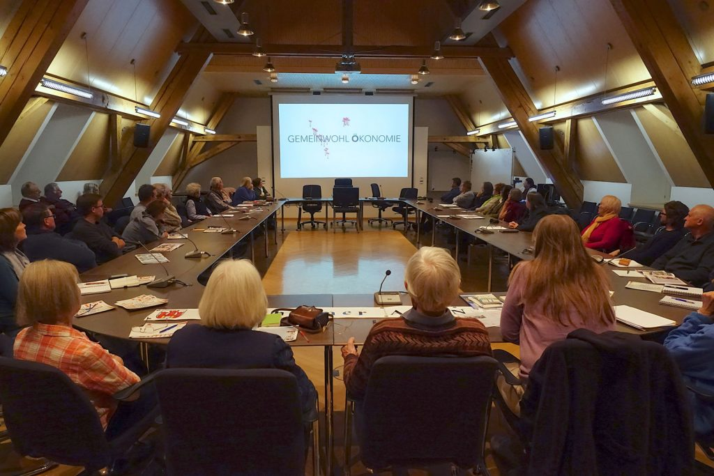 Info-Veranstaltung der Weilheimer AGENDA 21 im Rathaus, 26.3.19 - Arbeitskreis Gemeinwohl-Ökonomie zeigt Video