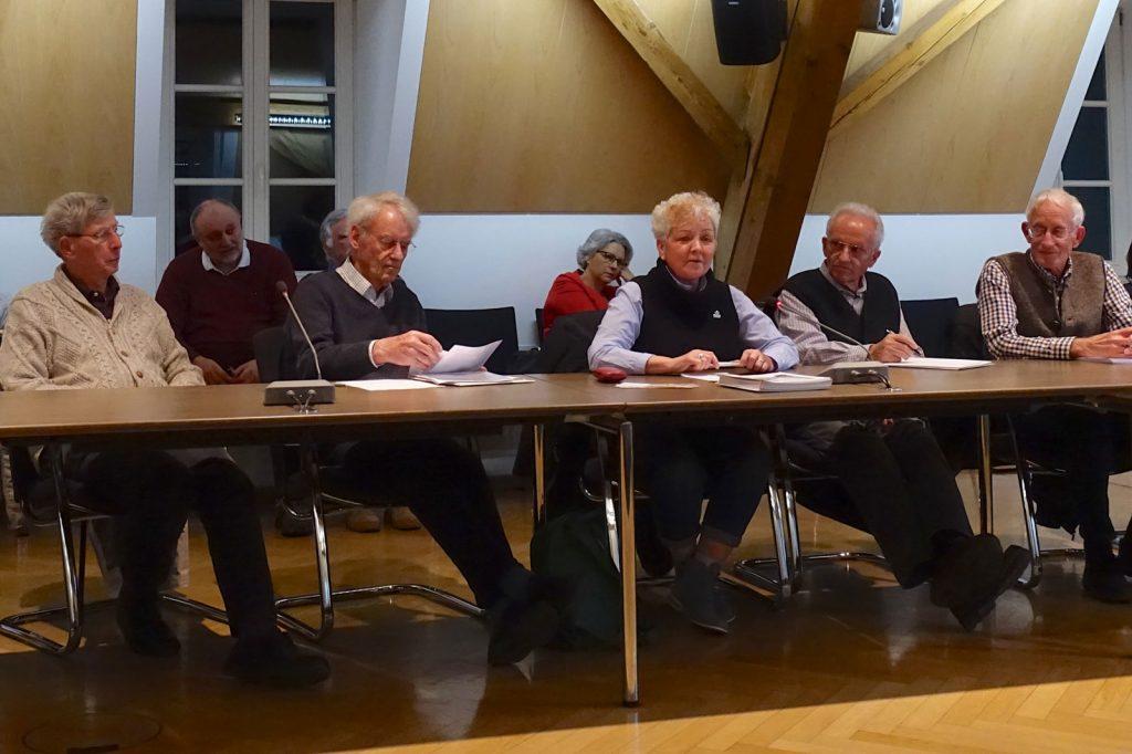 Info-Veranstaltung der Weilheimer AGENDA 21 im Rathaus, 26.3.19 - Sprecherin des Arbeitskreises Senioren, Petra Stragies spricht