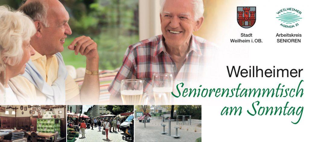 Weilheimer Seniorenstammtisch 2019-II - Postkarte Titel