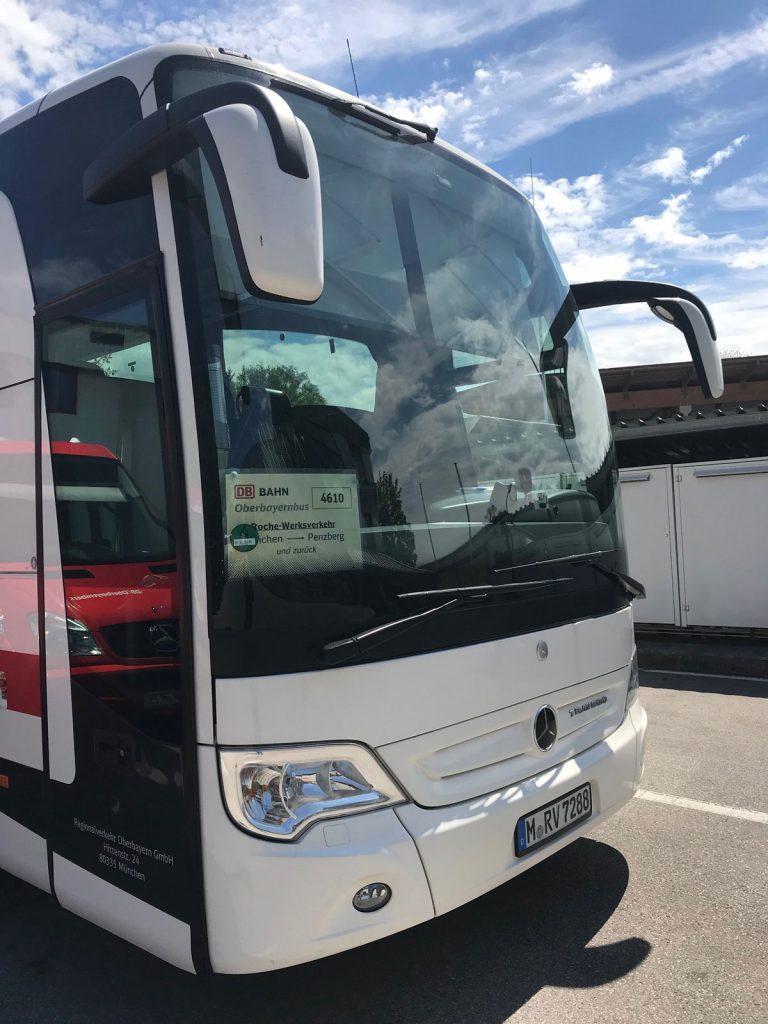 Werksbus für Firma ROCHE von RVO (Regionalverkehr Oberbayern)