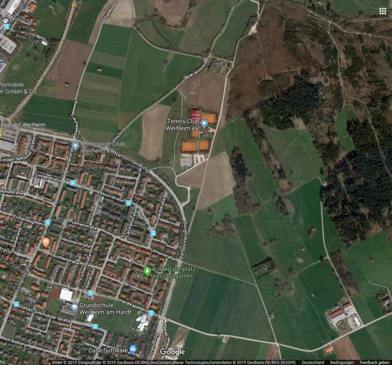 Luftbild von Weilheim (NordOst) von Google