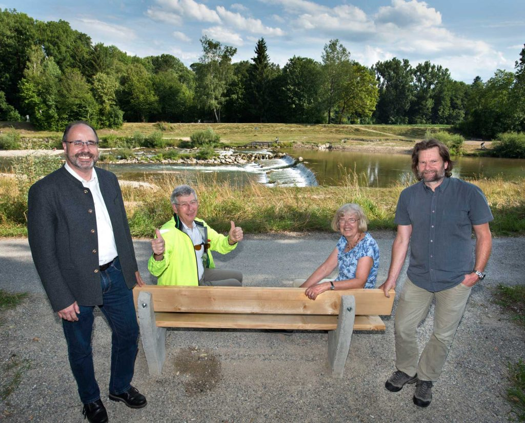Bank-Spende des Wasserwirtschaftsamts Weilheim – an der Ammer, August 2019