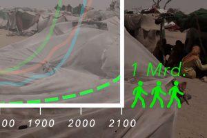 Dokumentarfilm 'Klimafluch und Klimaflucht' - Graph potenzielle Flüchtlinge in 2100