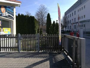 Weilheimer Heseloherweg - blockierter Zugang