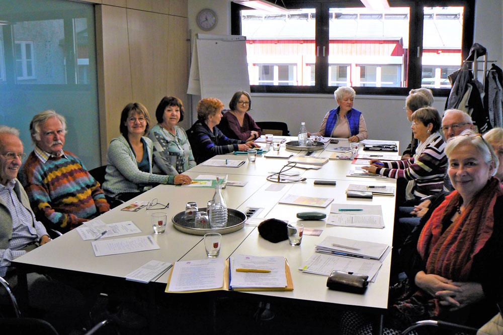 Treffen des Weilheimer AGENDA-Arbeitskreises 'Senioren', November 2019 im Rathaus.