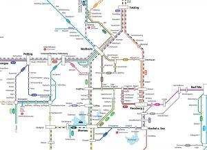 RVO-Liniennetz der Regionalbusse im Oberland - Ausschnitt