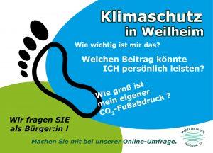 Bürgerinnen-Befragung Klimaschutz der Stadt Weilheim - Postkarte vorne